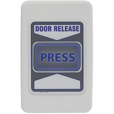 Exit device and door release for building egress